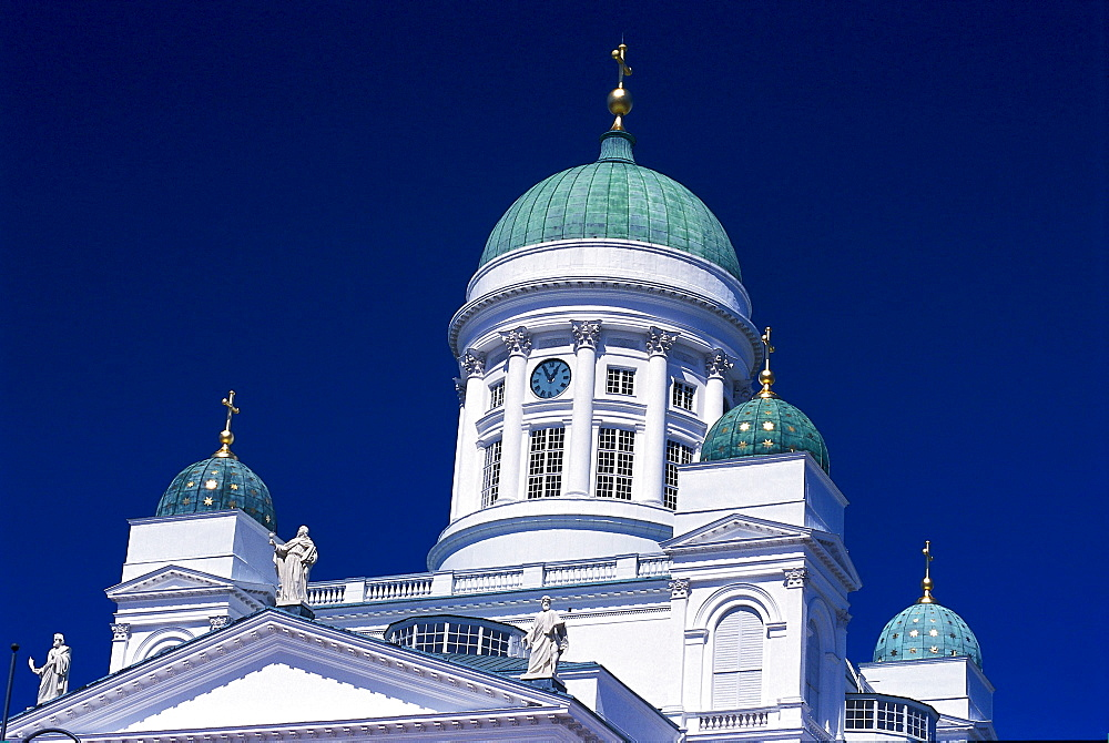 Dome of the Helsinki Cathedral, Helsingin tuomiokirkko, Senate Square, Helsinki, Finland