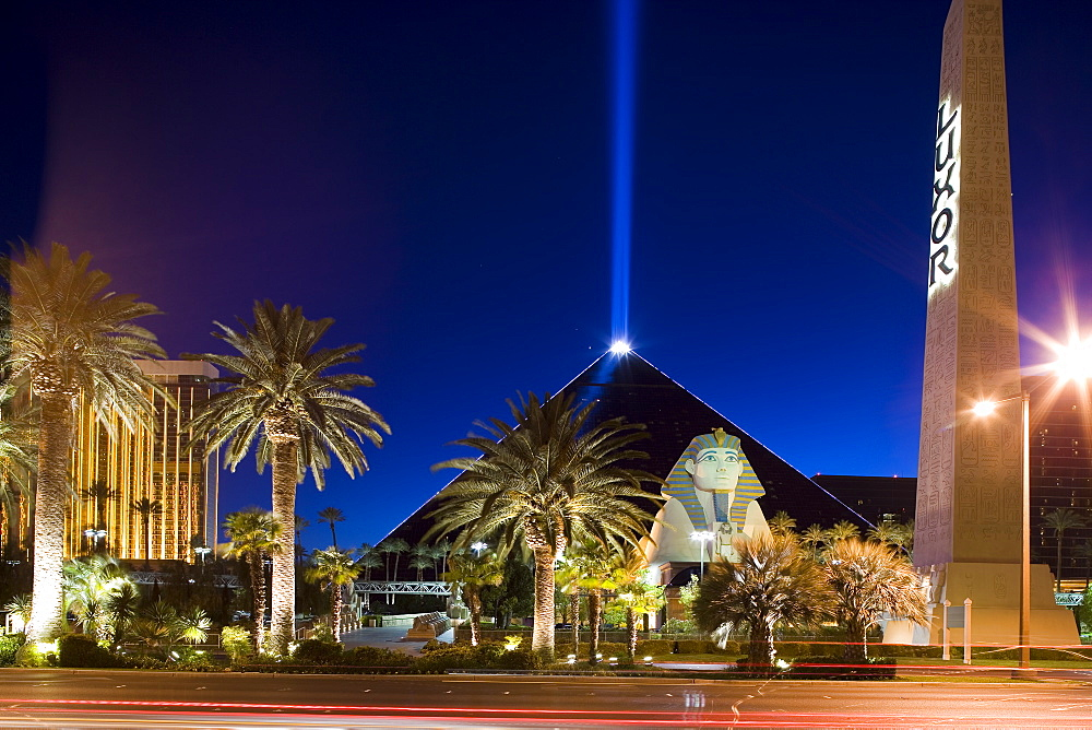 Luxor Hotel and Casino in Las Vegas, Nevada, USA