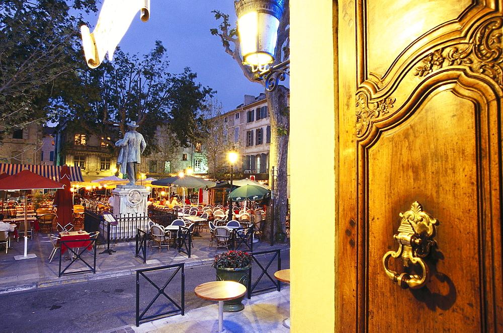 Entrance of Grandhotel Nord Pinus, Arles, Provence France