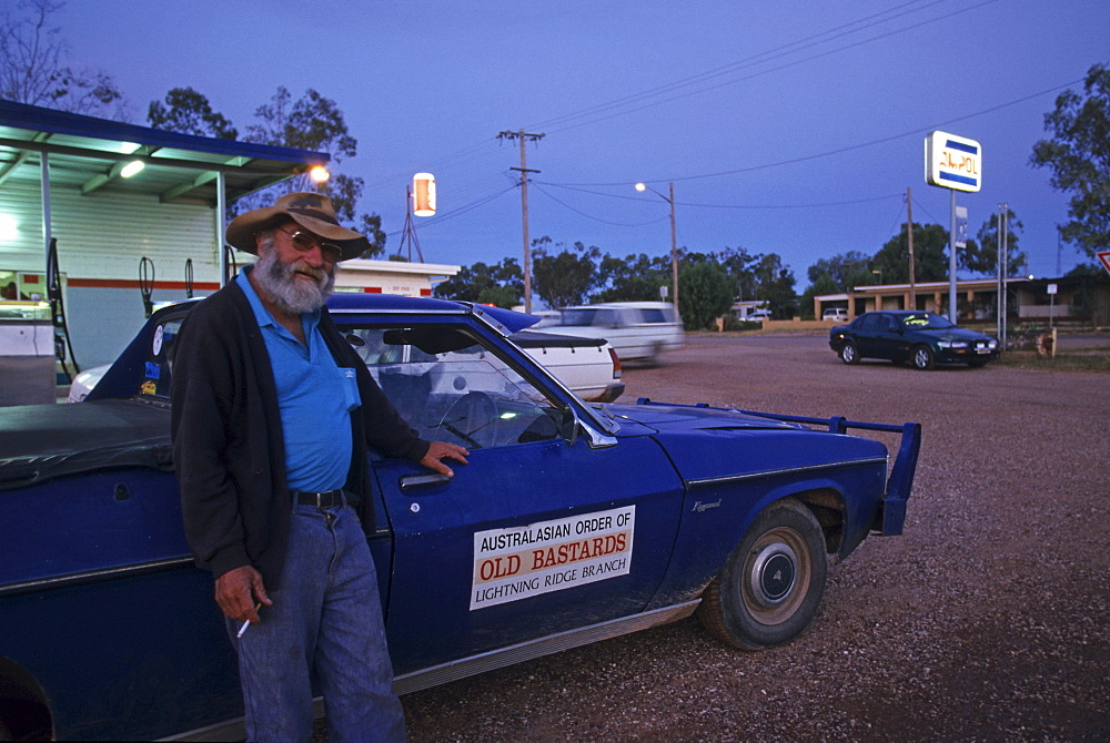 Character from Lightning Ridge, opal town, New South Wales, Australia