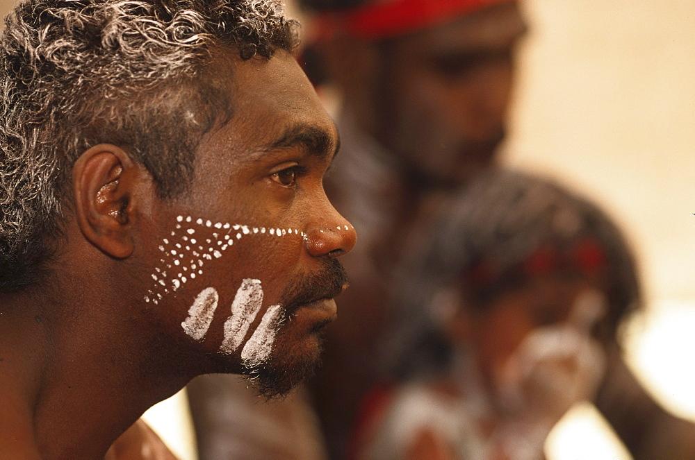 Face painitng, Aborigine, Body painting, Laura Dance Festival, Cape York Peninsula, Queensland, Australia