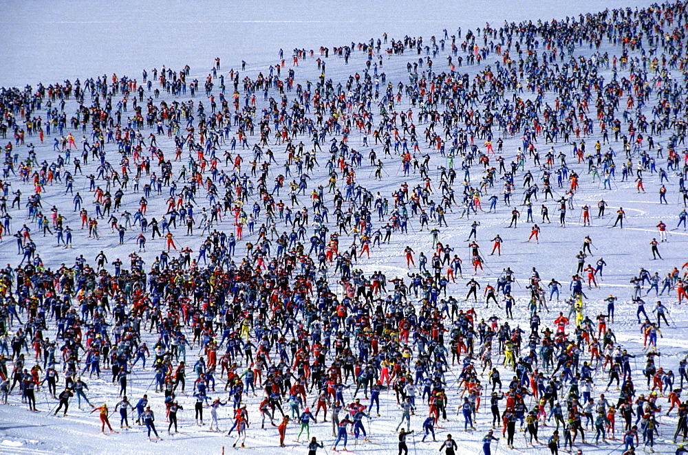 Engadin ski marathon, Engadin, Grisons, Switzerland