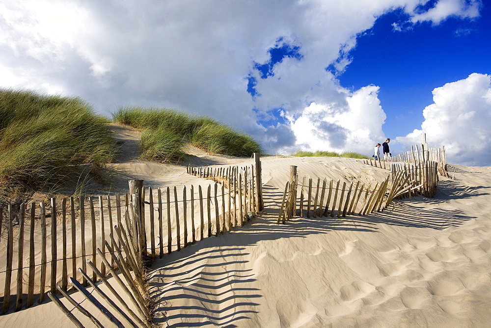 Sand dunes at Camber Sands, Kent, England, Europe