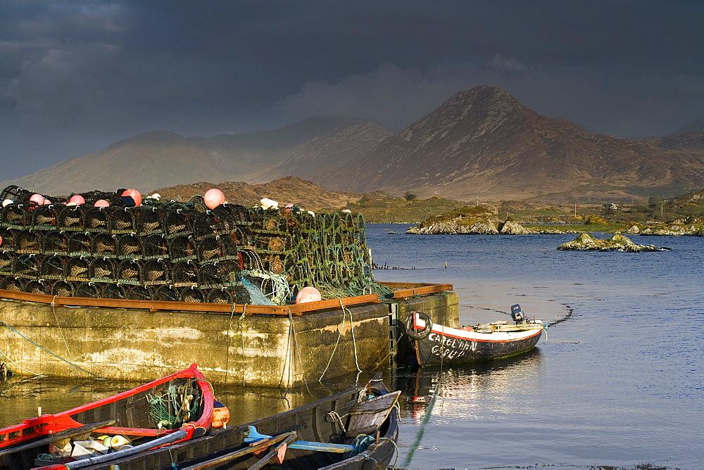 Ballynakill Harbour, Connemara, County Galway, Ireland, Europe