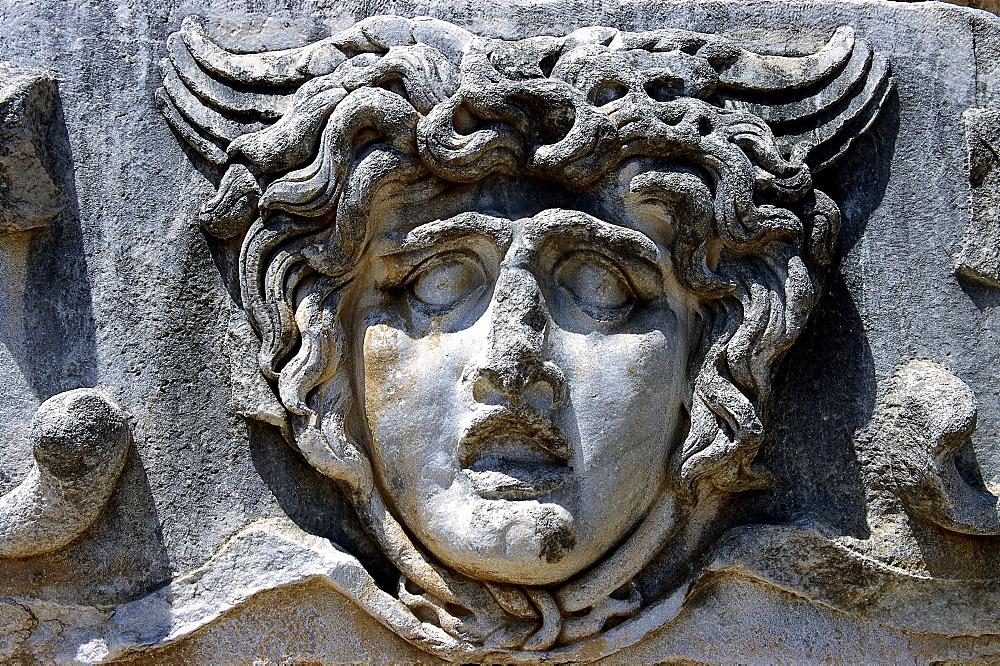 Medusa sculpture, Temple of Apollo, Antique sanctuary of Didyma, Turkey