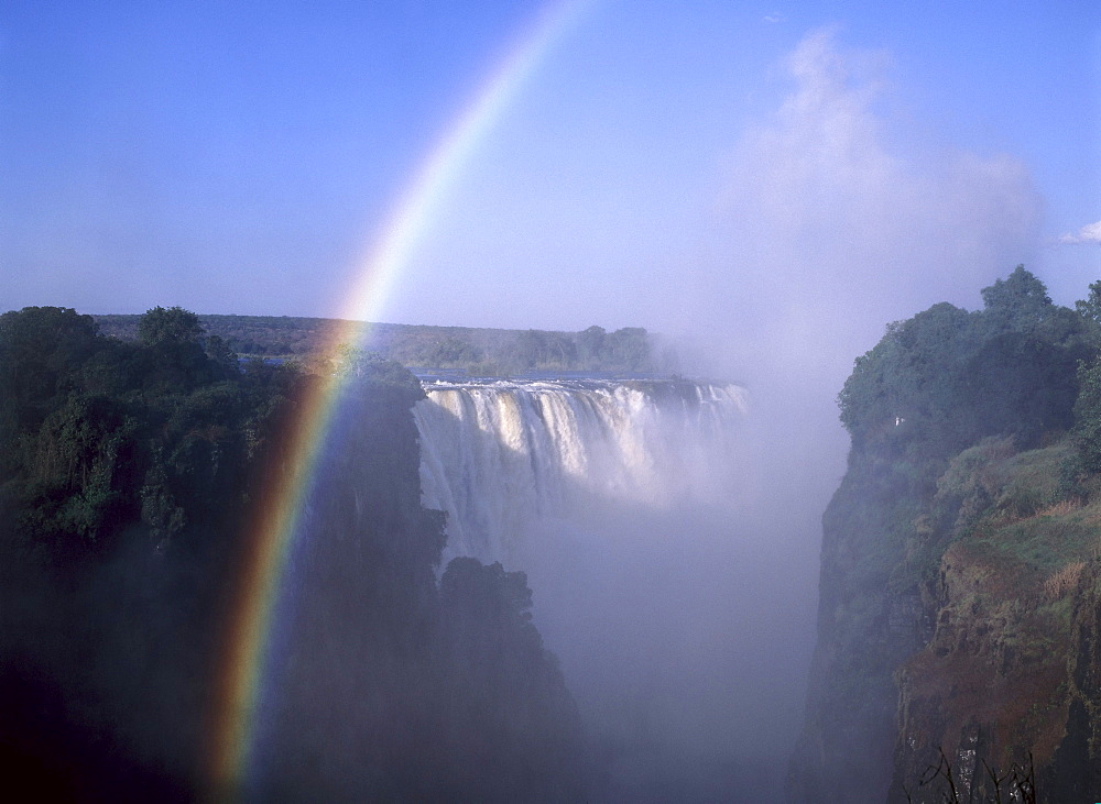 Rainbow over the Victoria Falls, Zimbabwe, Zambia, Africa