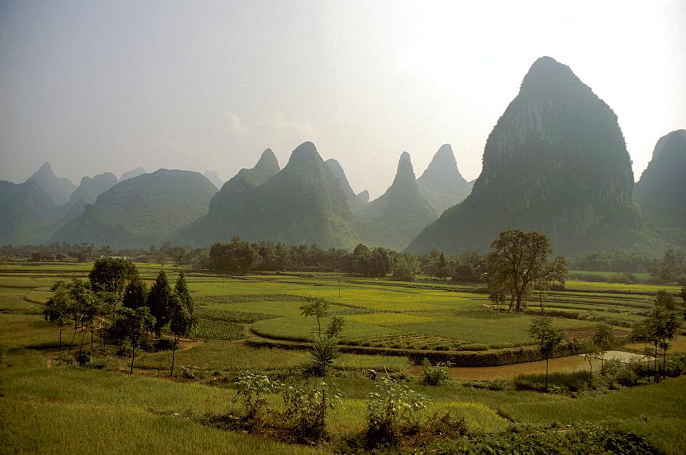 Limestone Rocks at River Lijiang, Guilin, Province Guangxi, China
