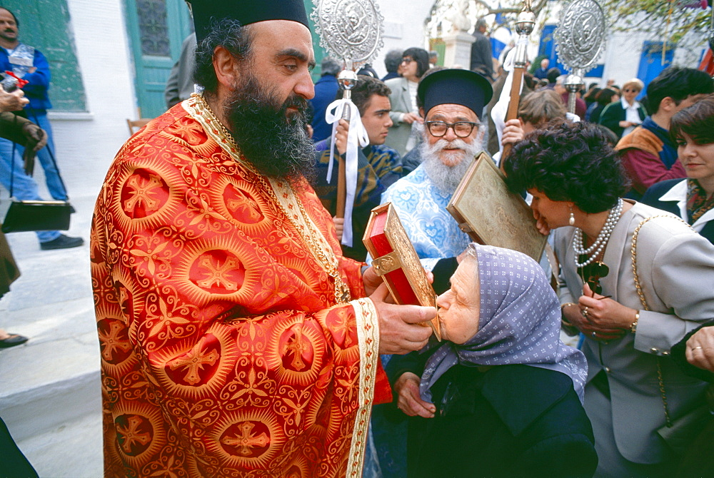 Easter Sunday mass, Pirgos, Andros, Cyclades, Greece - 1113-63700