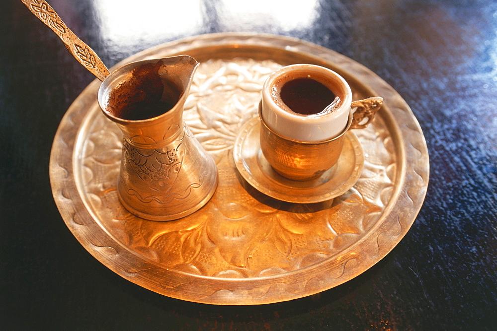 Coffee, Cafe Kouros, Ermoupolis, Ellinikos kafes, Siros, Cyclades, Greece