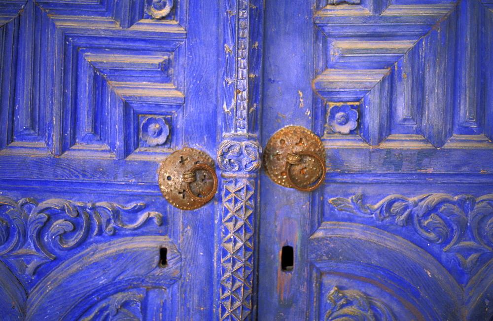 Door rings, door, Former Monastery, Galata, Cyprus