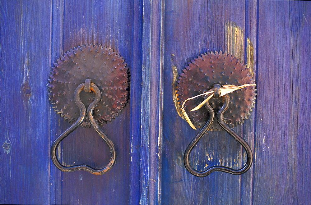 Door rings, door, Galata, Cyprus