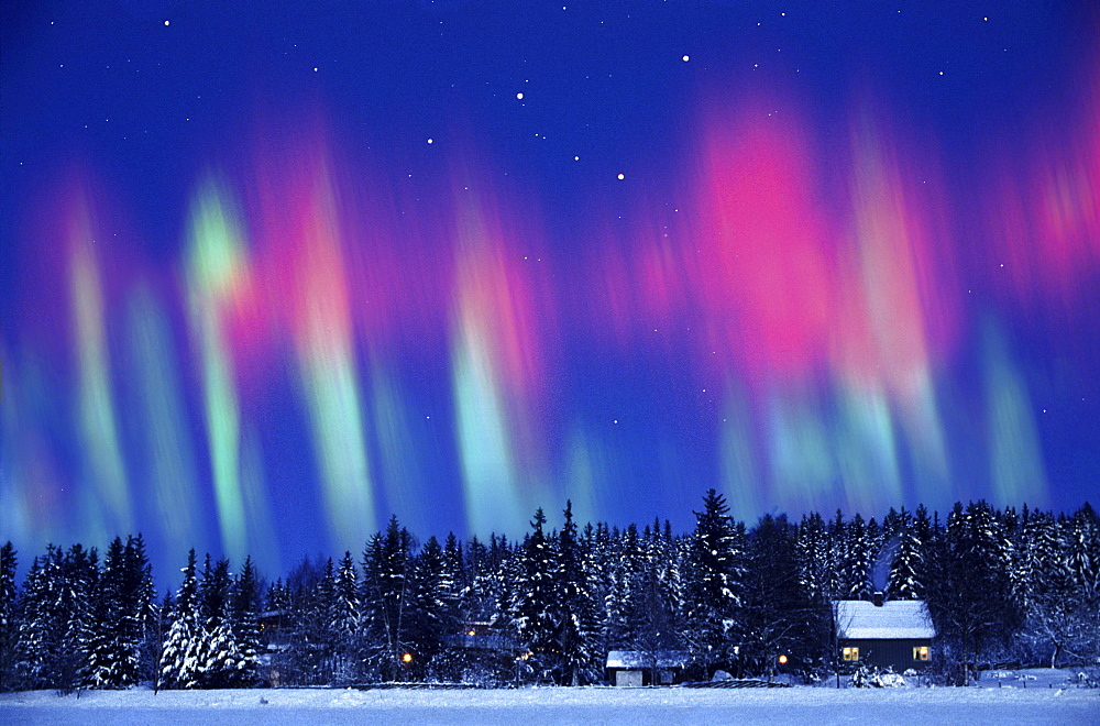 Aurora borealis, Northern Norway, Kautokeino, Lappland, Norway - 1113-64510
