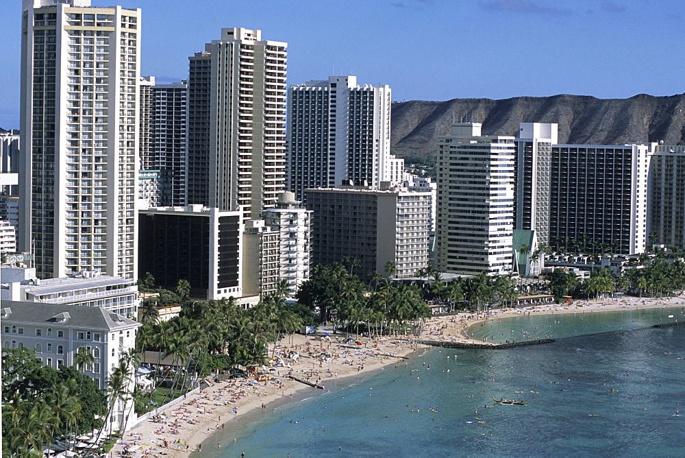 Waikiki Beach Highrises, Honolulu, Oahu, Hawaii, USA