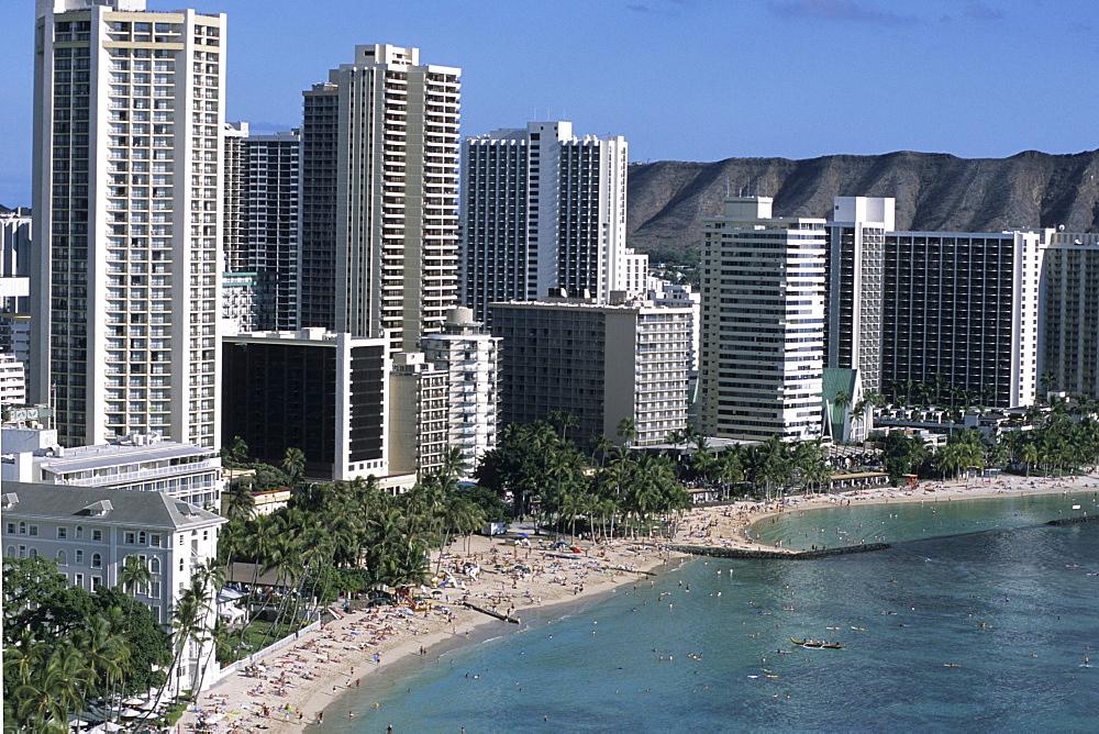 Waikiki Beach Highrises, Honolulu, Oahu, Hawaii, USA