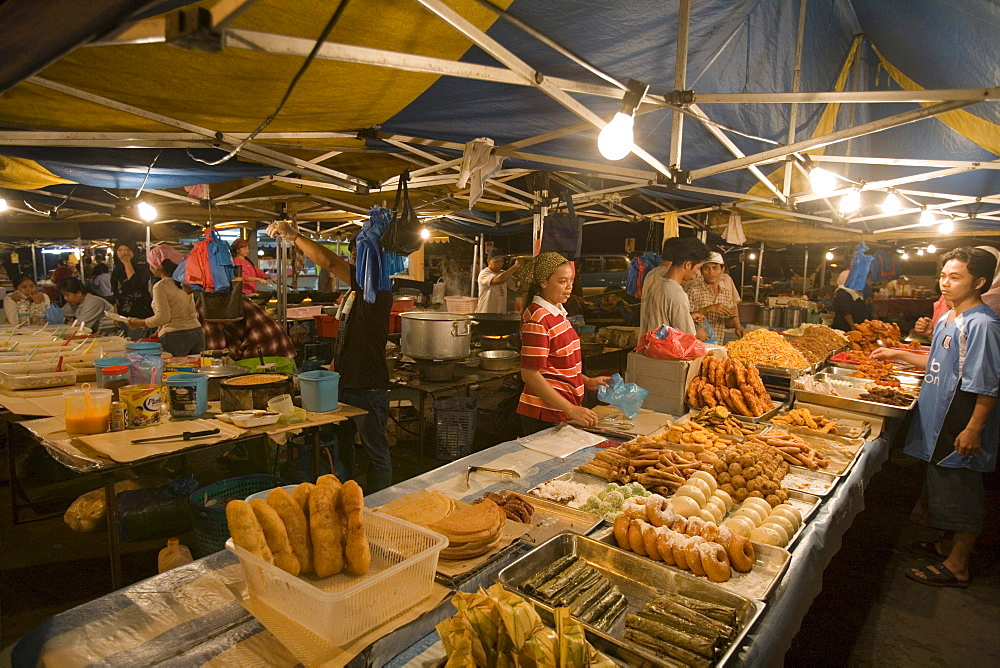 Baked Goods at Night Market, Pasar Malam Night Market, Bandar Seri Begawan, Brunei Darussalam, Asia