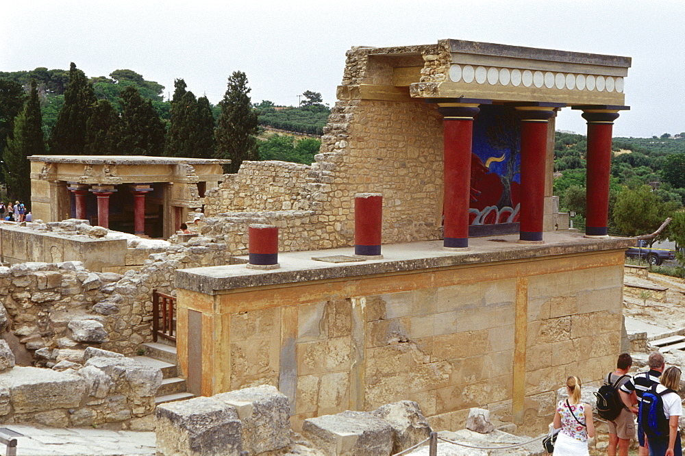 Minoian Palace, Knossos near Iraklion, Crete, Greece