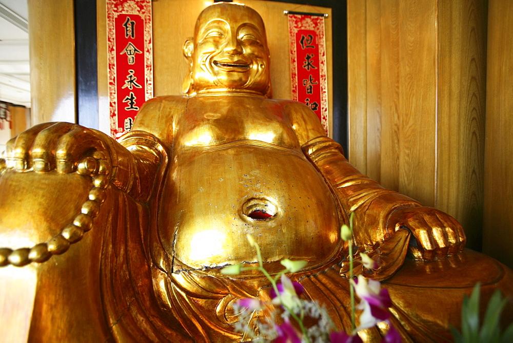 laughing buddha, house shrine, Gold