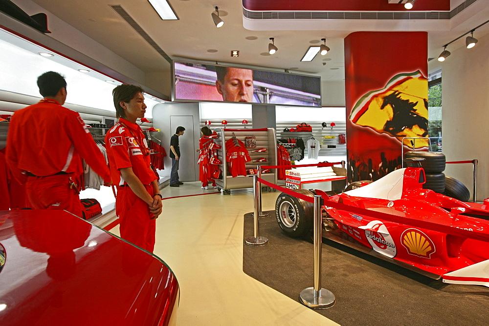 Ferrari Shop, Ferrari, Xintiandi, Showroom, salesmen, racing car, red