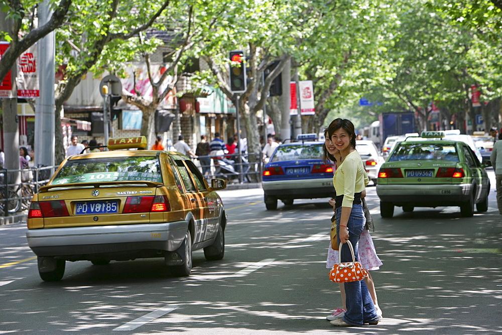 French Concession, pedestrian, car