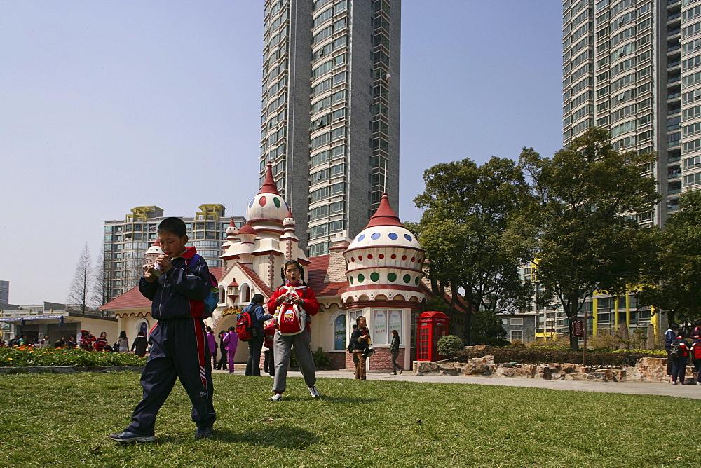 JinJiang Amusement Center, school class, fun park, excursion