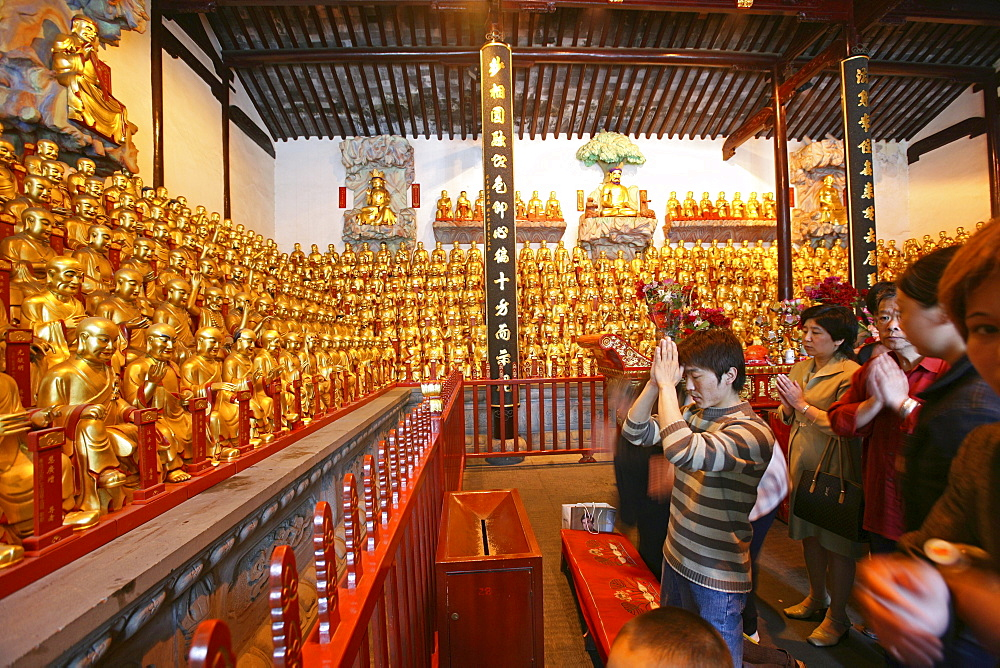 Longhua Temple, Longhua Temple and pagoda, oldest and largest buddhist temple in Shanghai, thousand-buddha-hall - 1113-67745