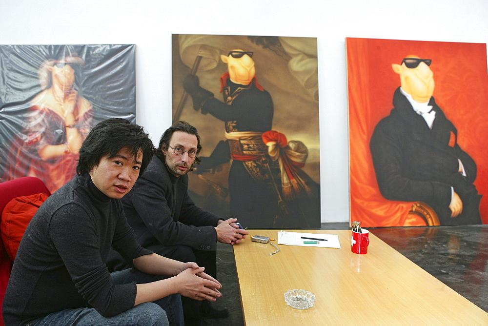 ShanghART art gallery, Moganshan, paintings of painter Zhou Tiehei, exibition hall, Gallery, art dealer, 50 Moganshan Road