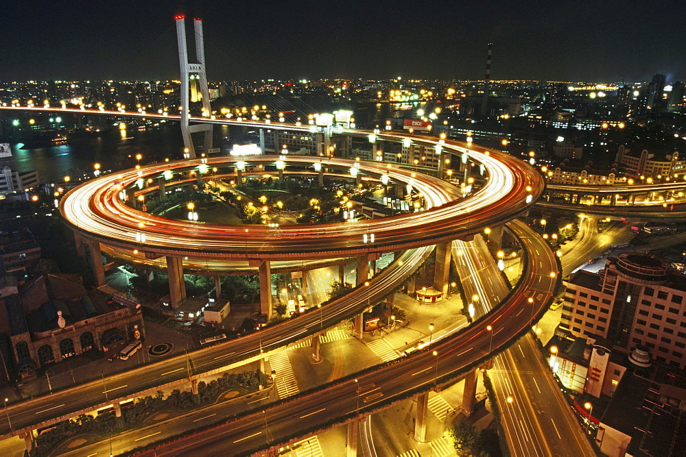 elevated highway system, Nanpu Bridge Interchange, Shanghai - 1113-67829