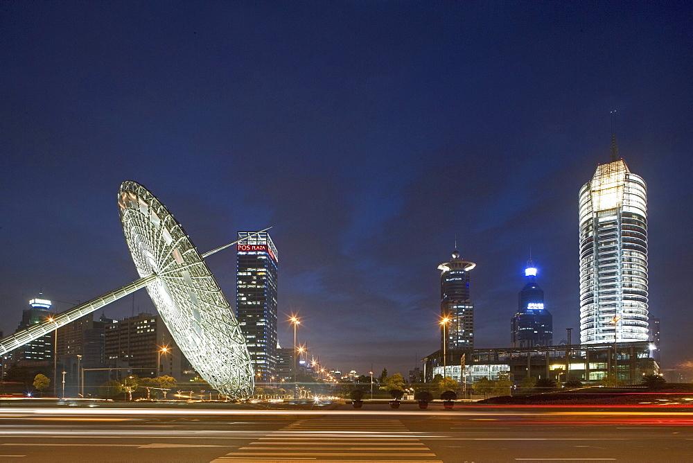 Oriental Art Centre Shanghai, Pudong, architecture, glass facade, Skyline Pudong, art, exhibition, art museum