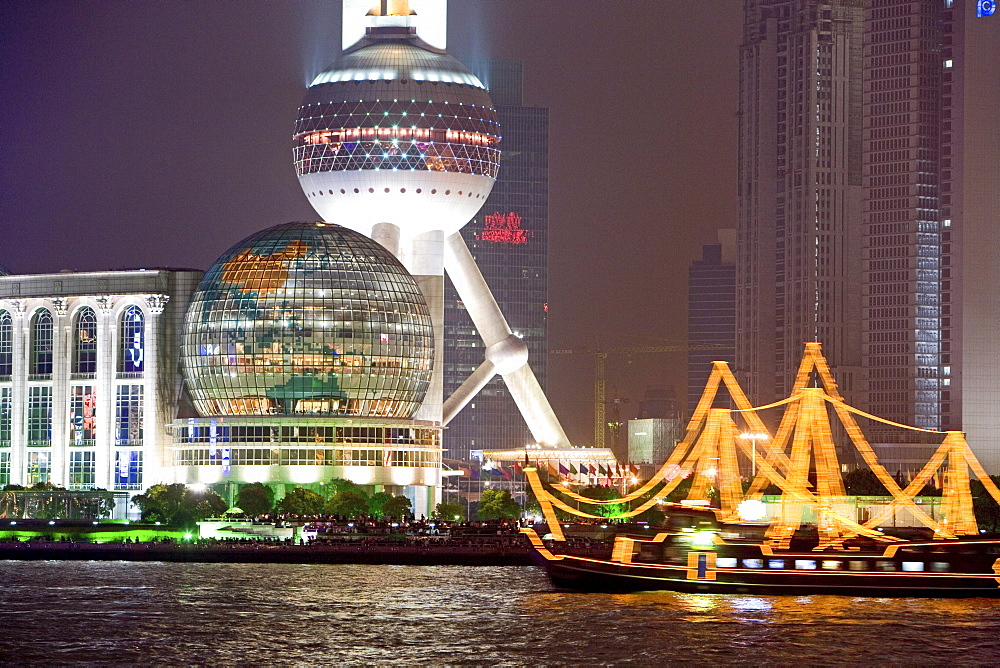 Skyline Pudong, Center of Pudong, Huangpu River, Pearl Orient Tower, TV Tower, Jinmao, congress centre
