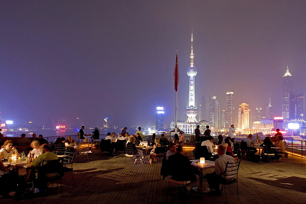 Bar Rouge, view of Pudong skyline, Shanghai