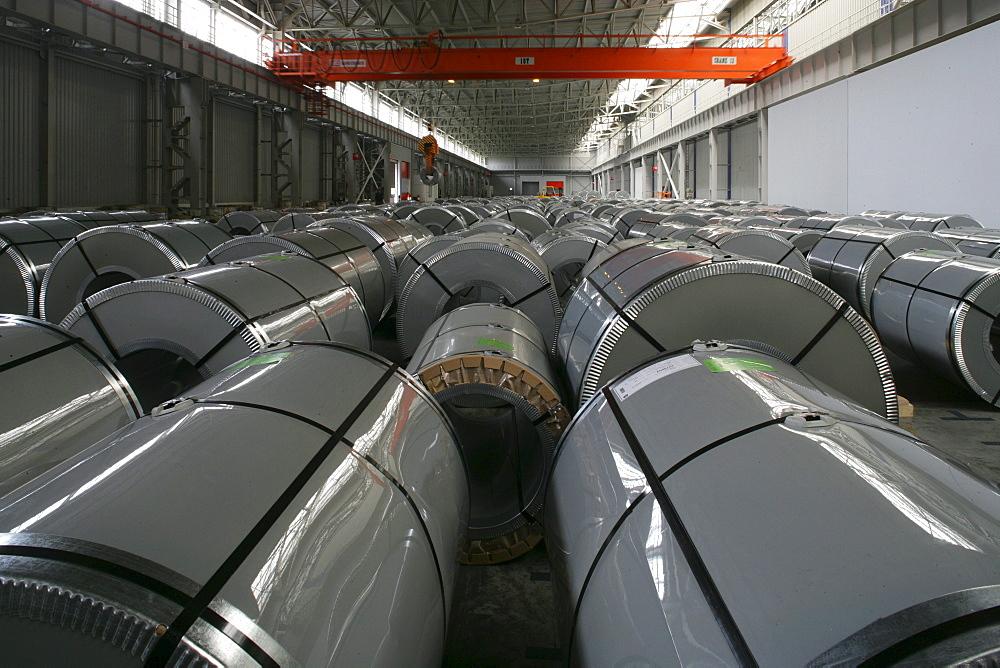 Thyssen-Krupp, hall, plant, sheet metal, rolled steel, rolling mill