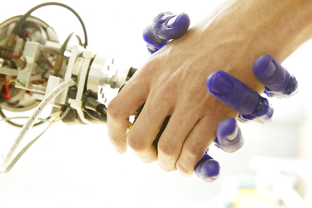 Humanoid robot, ARMAR, Fluid Hand, Institute fuer Rechnerentwurf und Fehlertoleranz at Karlsruhe University, 2004 - 1113-68377