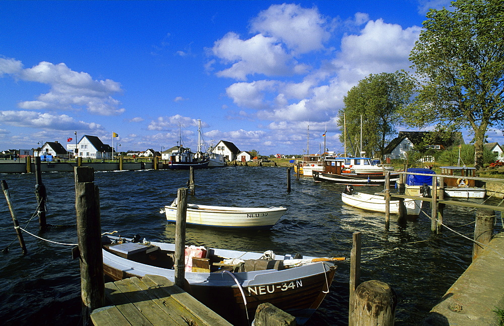Europe, Germany, Mecklenburg-Western Pomerania, isle of Hiddensee, Neuendorf fishing harbour