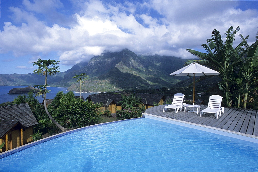 Swimming Pool at Hanakee Pearl Lodge, Atuona, Hiva Oa, Marquesas, French Polynesia