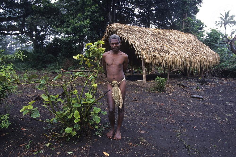 Man at Vanuatu Kastom Village, Yakel, Tanna, Vanuatu