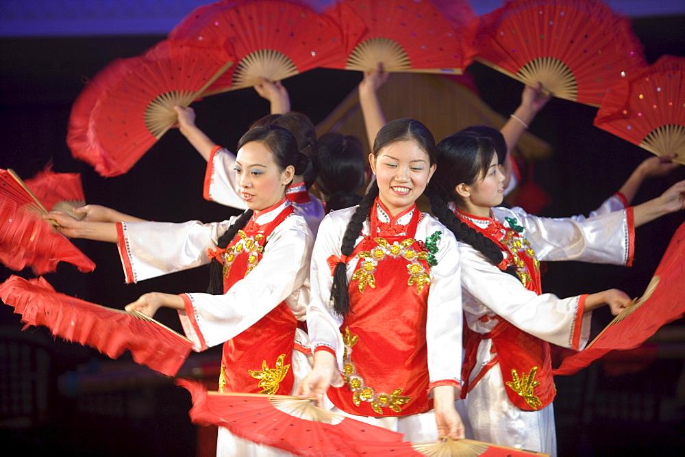 Cabaret Performance aboard MV Victoria Queen, Victoria Cruises, Yangtze River, China - 1113-70139