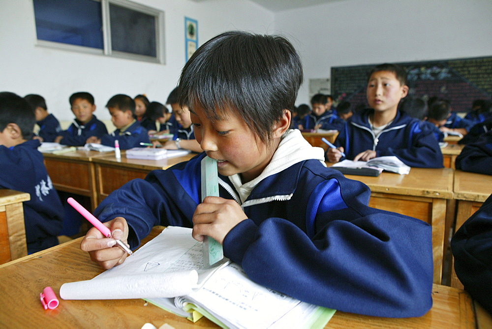 education, at one of the new Kung Fu schools in Dengfeng, near Shaolin, Song Shan, Henan province, China, Asia