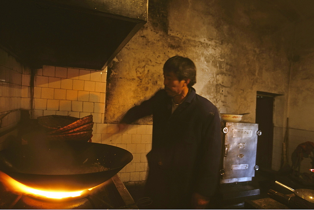 monastery kitchen on the peak 1613 metres high, Wudang Shan, Taoist mountain, Hubei province, Wudangshan, Mount Wudang, UNESCO world cultural heritage site, birthplace of Tai chi, China, Asia