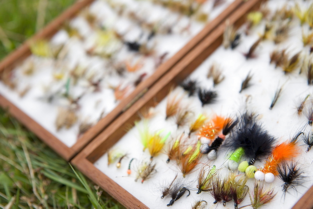 Fly Fishing Tackle Box, Lough Inagh Fishery Near Recess, Connemara, County Galway, Ireland
