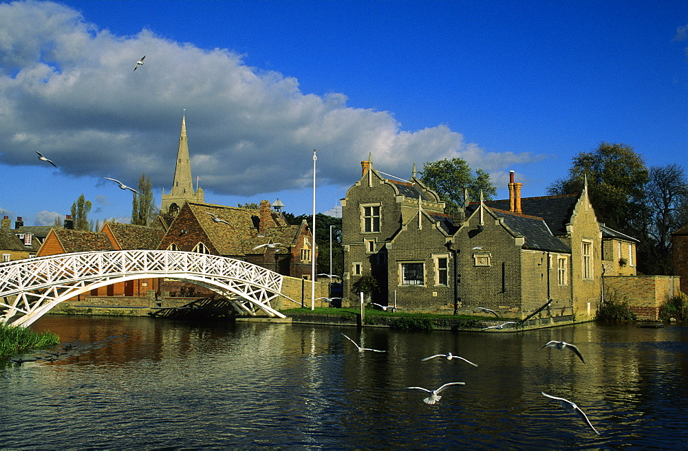 Europe, Great Britain, England, Cambridgeshire, Godmanchester, Chinese Chippendale Bridge