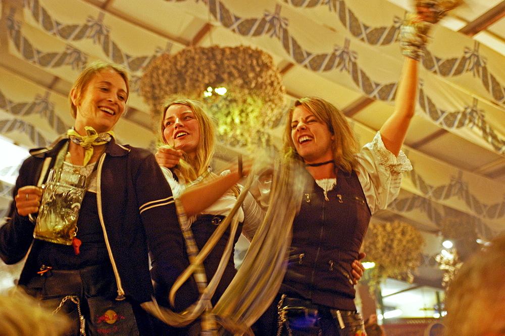 Oktoberfest, Munich, Bavaria, Germany, Beer Festival, Beer Tent, Mass
