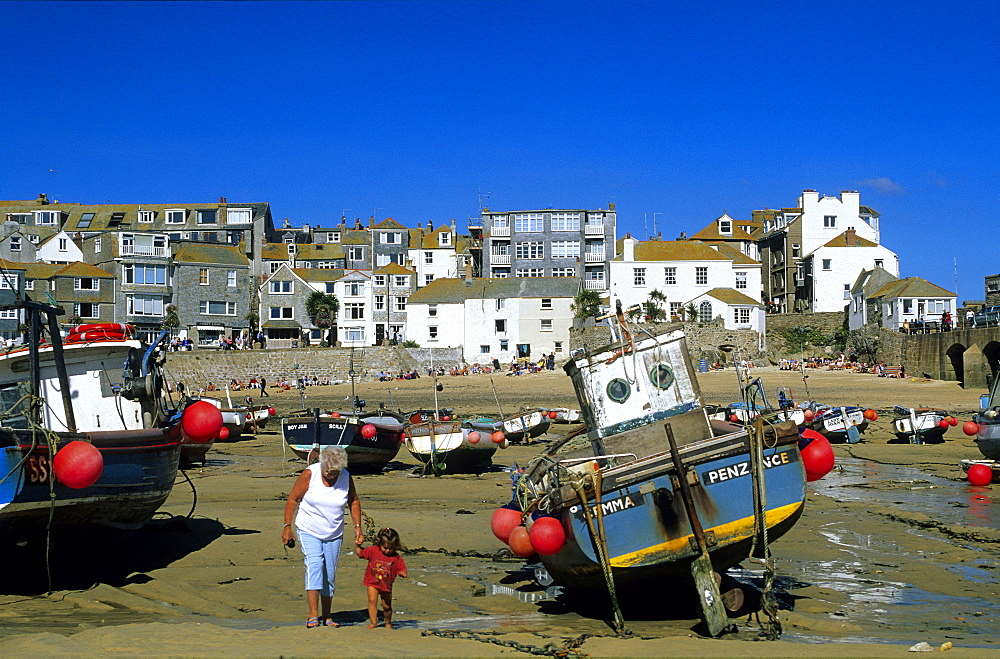 Europe, Great Britain, England, Cornwall, harbour in St. Ives
