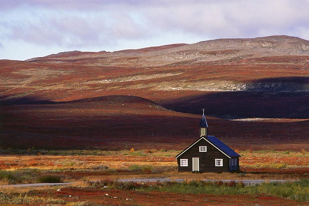 Church of Sami People, Duoddar north of Alta, Finnmark, Norway