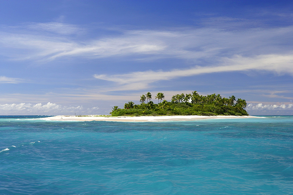 The small uninhabited island of Malinoa is situated one boat hour north of Tongatapu, Tonga, Oceania