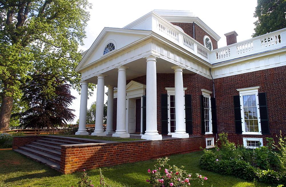 View at Thomas Jefferson's home, Monticello, Virginia, USA