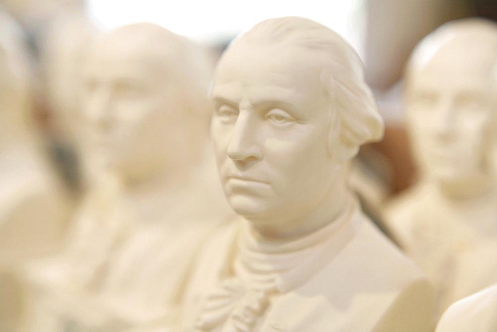Bust of president George Washington, Mount Vernon, Virginia, USA