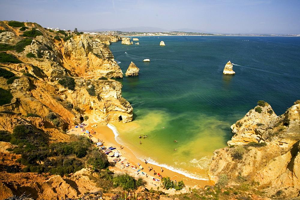 Portugal algarve near Lagos, Praia do Camilo, Atlantik coast