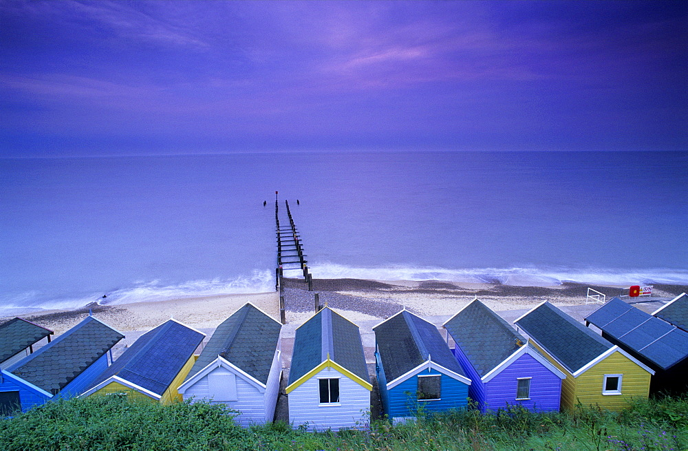 Europe, England, Suffolk, Southwold, East Anglia, bathing cabins