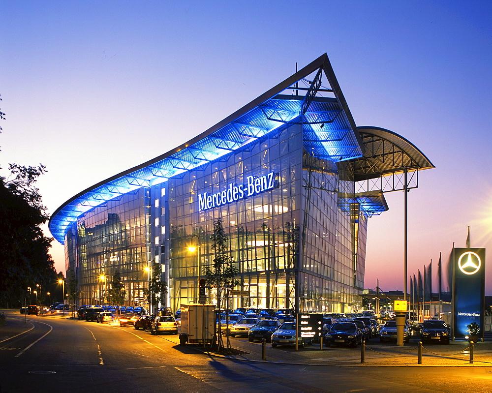 Berlin Merces world at Salzufer, morn building, exterieur view