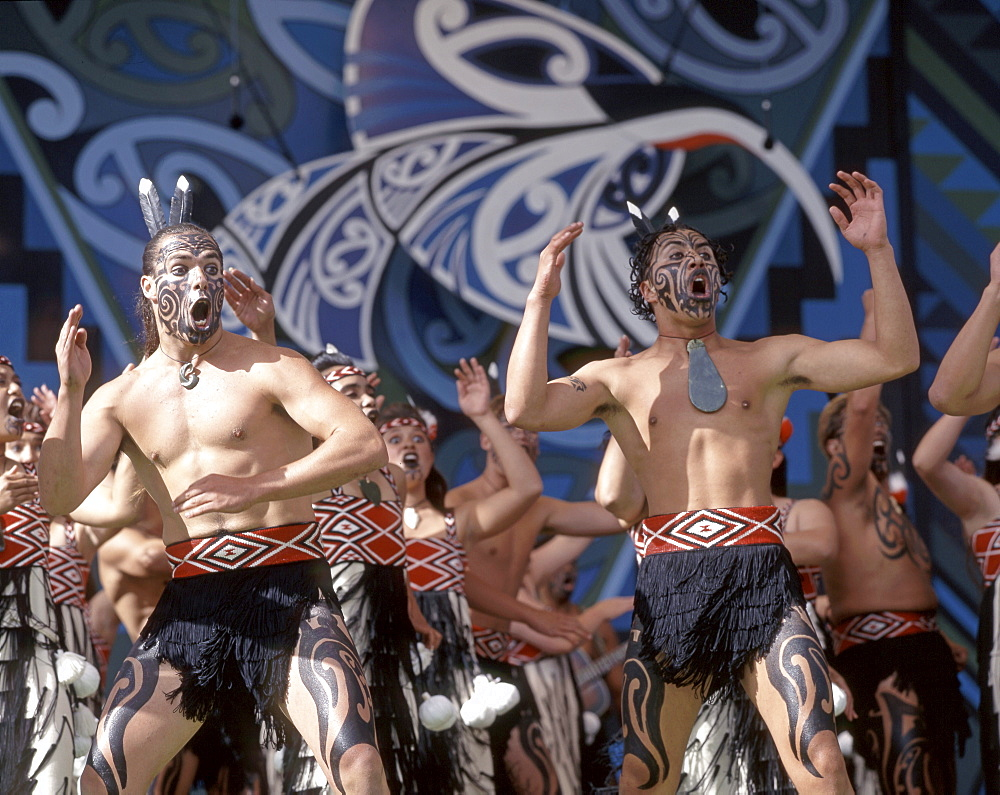 New Zealand, north island, Rotorua Arts Festival, dance and singing performance - 1113-77607